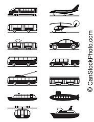 Passenger and public transportation - vector illustration