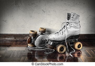 Vintage Skates - Vintage roller skates with big shoe-laces...