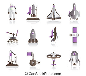 Space shuttles and astronaut - Spacecraft, space shuttles...
