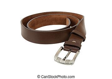 belt chet - Man's belt on white background