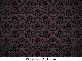 Dark baroque wallpaper with texture - Dark baroque revival...