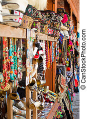 Street market in Tbilisi, Georgia where you can to buy the...