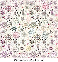 Christmas seamless pattern - Christmas pastel seamless...