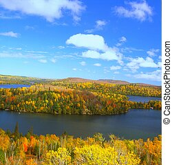 Caribou Lake Overlook ~ Minnesota - An autumn overlook of...