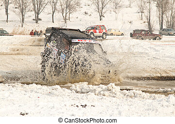 Almaty, Kazakhstan - February 11, 2012 Off-road racing...