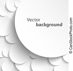 Paper circles with drop shadows - Paper banner on circle...