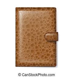 Leather wallet - Brown leather wallet. Illustration on white...