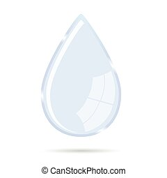 waterdrop vector illustration icon on white background