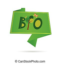bio sign for ecology and green vector illustration
