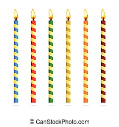 birthday candles for cake vector illustration