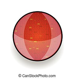 brick red in circle vector illustration