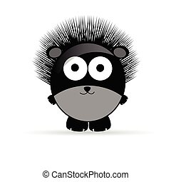 sweet and funny hedgehog animal vector illustrtion on white
