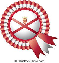 Jersey rosette flag