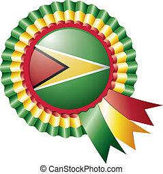Guyana rosette flag
