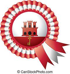 Gibraltar rosette flag