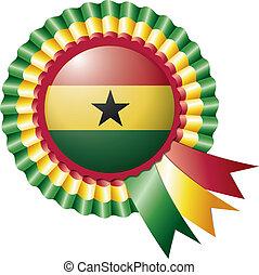 Ghana rosette flag