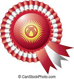 Kyrgyzstan rosette flag