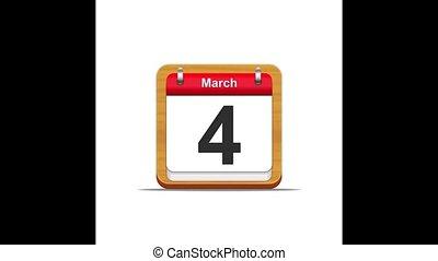 March calendar.