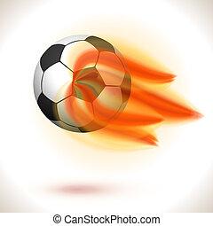 Fire Flaming Soccer Ball