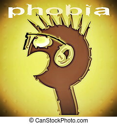 concept phobia background (anxiety disorder)