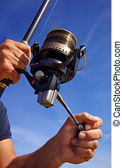 Fishing reel - Close-up on fishing reel