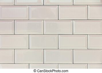 White tiles - Wall background with bright white tiles