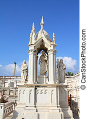Cienfuegos cemetery, Cuba - Cuba - decorative grave in the...