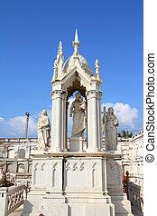 Cienfuegos cemetery, Cuba - Cuba - decorative grave in the...