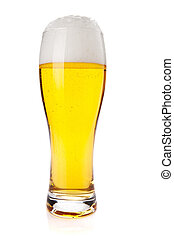 Lager beer glass Isolated on white background