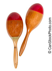Surinam Maracas, isolated on a white background