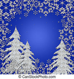Winter Wonderland Illustration - Graphic illustration with...