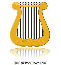 Glossy harp - Glossy illustration showing a small harp...