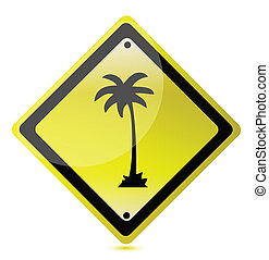 palm yellow sign