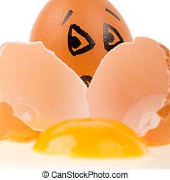 espantado, huevo