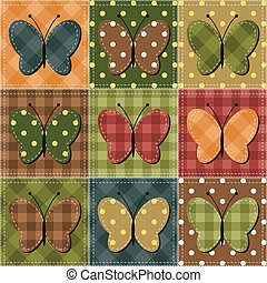 scrapbook butterflies on white background vector