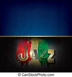 Abstract jazz music background