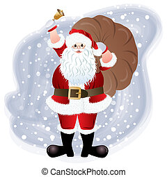 Santa Claus, greeting card design