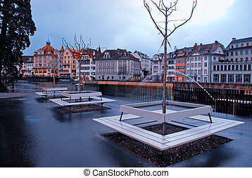 Lucerne Waterfront(Switzerland)