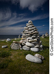 Small stone Cairns at Rubh' Aird-Mhicheil - Small stone...