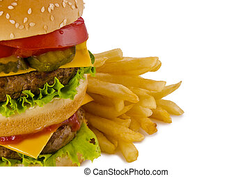 Burger and french fries