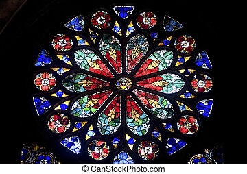 Strasbourg - The gothic cathedral, rose window - Strasbourg...