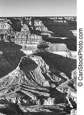 Grand Canyon Scenery - A vertical monochromatic composition...