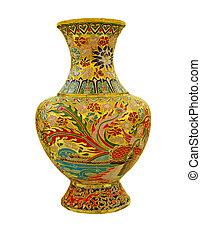 chinese  vase - chinese vase on the plain back ground