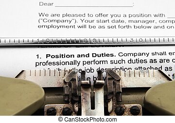 Position and duties