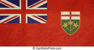 Grunge Ontario state flag