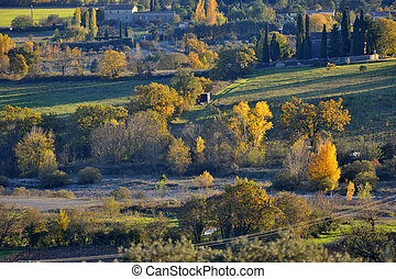 autumn - landscape of French autumn in the area of the...
