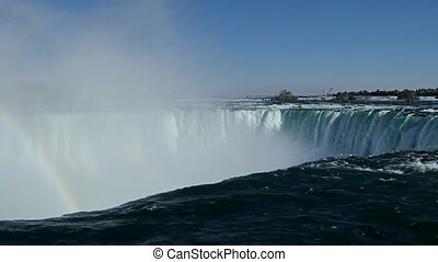 Water Rushes over Niagara Falls - 1080 HD video in the...