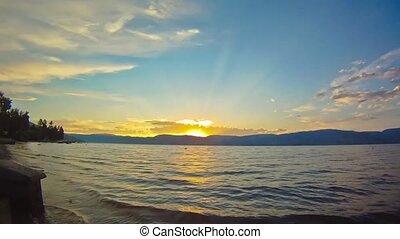 Okanagan Sunset - An Okanagan Sunset as the clouds move...