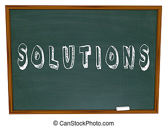 Solutions Chalkboard Chalk Word Answers New Ideas - The word...