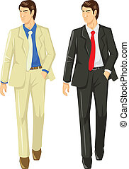 Businessman - Vector illustration of a man in suit